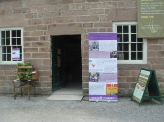 Entrance to Exhibition room with banner 2
